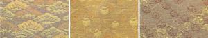 ①重ね松紋    ②松葉壺    ③扇面花紋